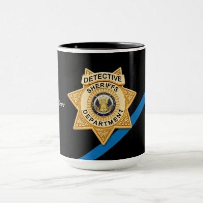 Sheriffs Department Detective Mug