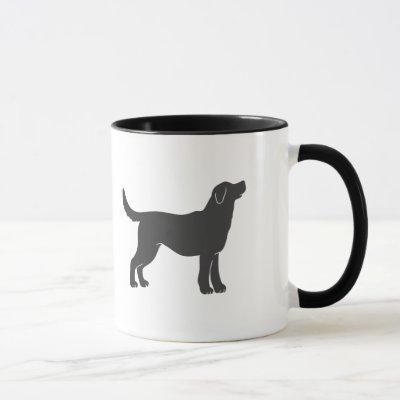 Silhouette dog standing - Choose background color Mug