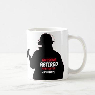 Silhouette Personalized  Firefighter Retirement Coffee Mug