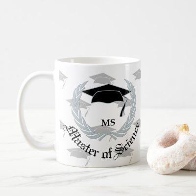Silver Master Science Graduation Celebration Coffee Mug