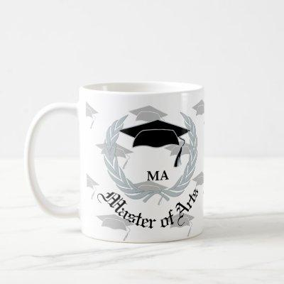 Silver Wreath Master Arts Graduation Celebration Coffee Mug