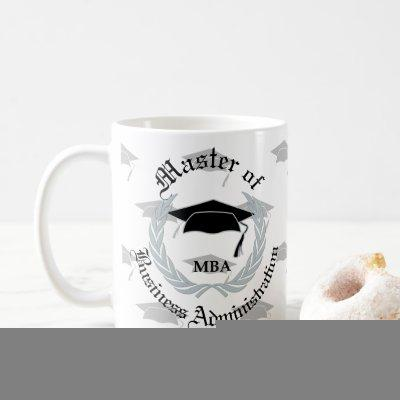 Silver Wreath Masters MBA Graduation Coffee Mug