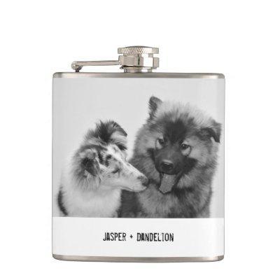 Simple, Modern Custom Pet or People Photo Flask