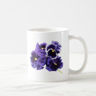 Simple Pansy Mug - No Text