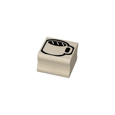 Simply Symbols / Icons - Coffee Mug + ideas Rubber Stamp