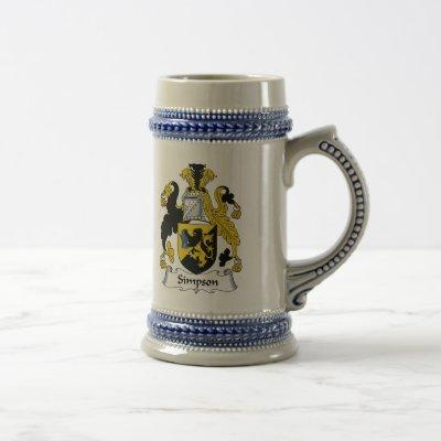 Simpson Family Crest Beer Stein