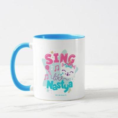 Sing Like Nastya Cat Graphic Mug