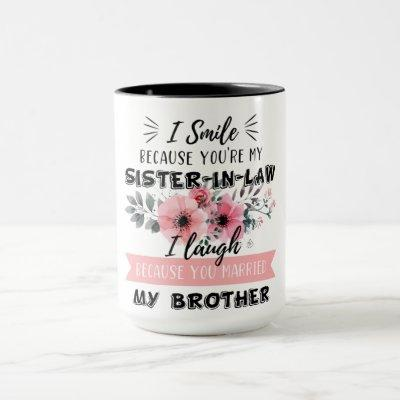 Sister-In-Law Mug Bridal Shower Gift Sister In Law