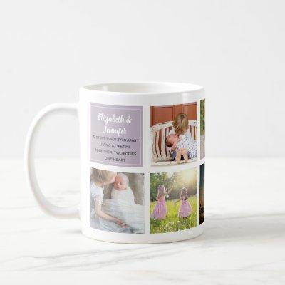 Sisterly love 9 x Photo Collage Sisters Keepsake Coffee Mug