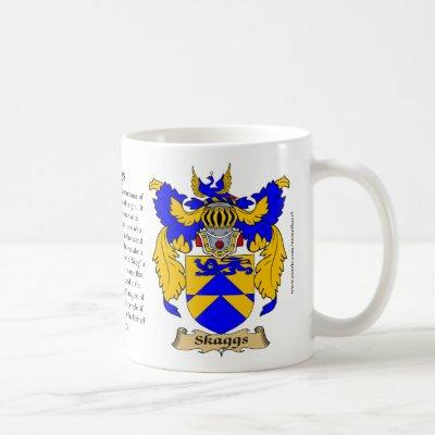 Skaggs, the Origin, the Meaning and the Crest Coffee Mug
