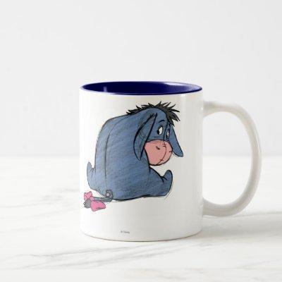 Sketch Eeyore 1 Two-Tone Coffee Mug