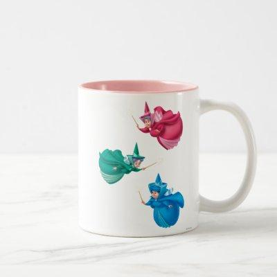 Sleeping Beauty Fairies Two-Tone Coffee Mug