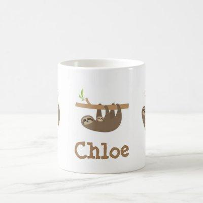 Sloths Personnalised Coffee Mug