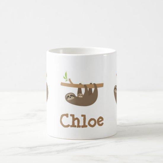 Sloths Personnalised Coffee Mug