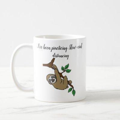 Slow-cial Distancing Sloth Mug