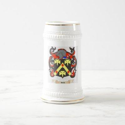 Smith Family Crest Heraldry Image to personalize Beer Stein