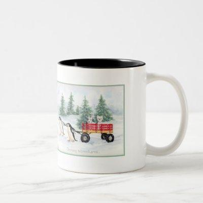 Snowy Adventures Two-Tone Coffee Mug