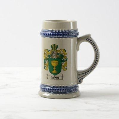 Snyder Coat of Arms Stein
