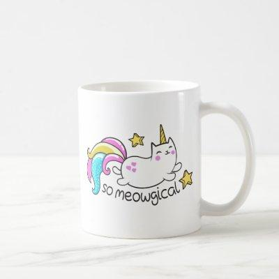 So Meowgical Cute Unicorn kitty glitter sparkles Coffee Mug