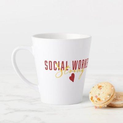 Social Work Strong Alma Mater  Inspired Latte Mug