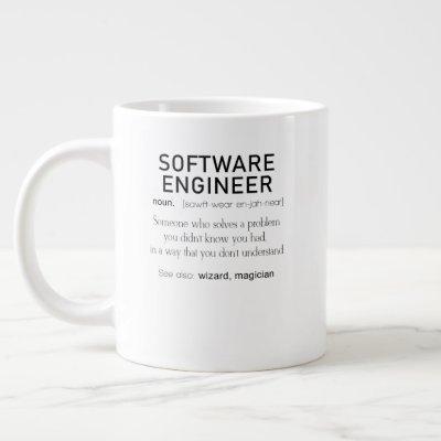 Software Engineer Definition Coder Definition Giant Coffee Mug