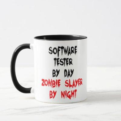 Software Tester Zombie Joke Mug