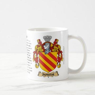 Souza, the Origin, the Meaning and the Crest Coffee Mug