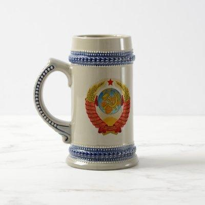 Soviet Union coat of arms. Beer Stein