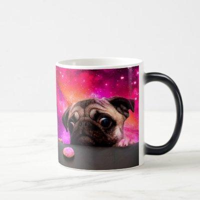 space pug - pug food - pug cookie magic mug