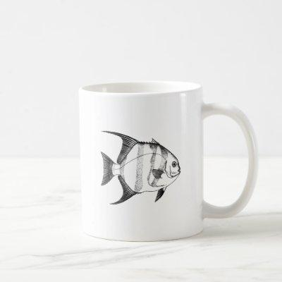 Spadefish Line Art Coffee Mug