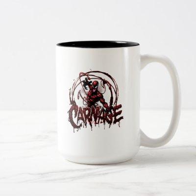 Spider-Man | Carnage Name Graphic Two-Tone Coffee Mug