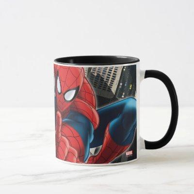 Spider-Man High Above the City Mug