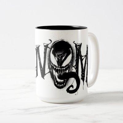 Spider-Man | Venom Name Logo Two-Tone Coffee Mug