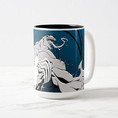 Spider-Man   Venom Symbiote Circle Graphic Two-Tone Coffee Mug
