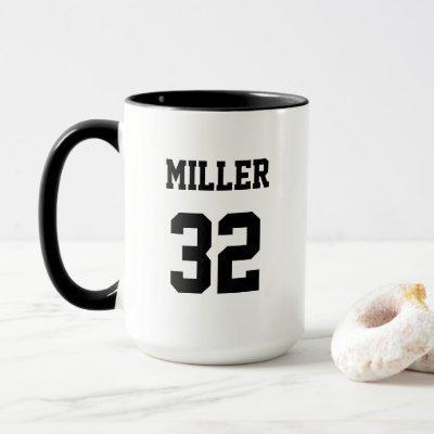 Sport Jersey Custom Name Custom Number Mug