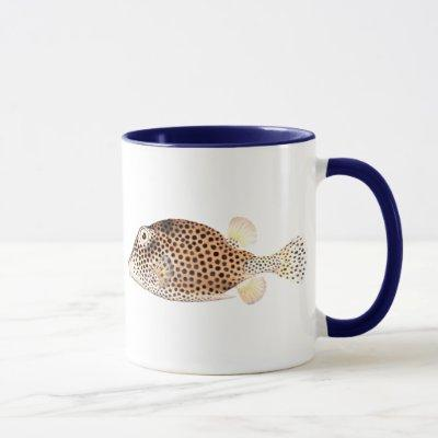 Spotted Trunkfish Vintage Fish Print - Double Fish Mug