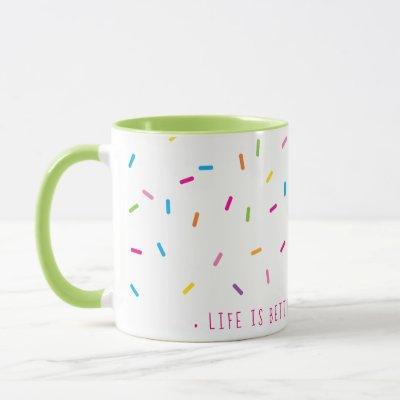 SPRINKLES modern cute patterned pretty colorful Mug