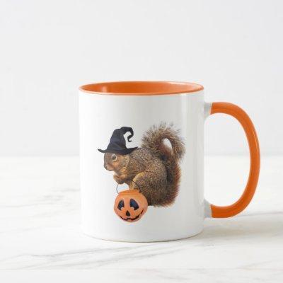 Squirrel Trick-or-Treating Mug