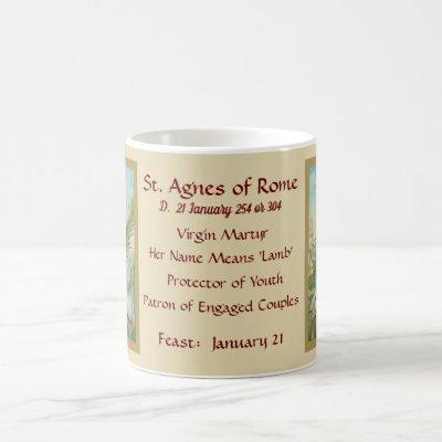 St. Agnes of Rome (MH 01) Coffee Mug 2a