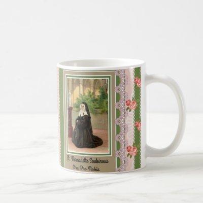 St. Bernadette Lourdes God Bless You Coffee Mug