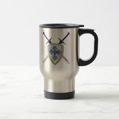 St Michael - Swords and Shield Travel Mug
