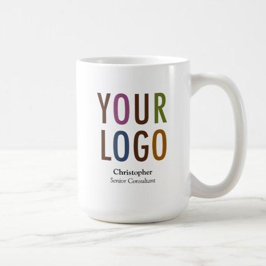 Staff Employee Mug Custom Name Company Logo Brand