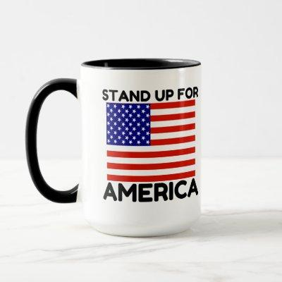 Stand Up For America Flag Mug