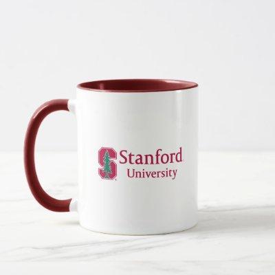 "Stanford University with Cardinal Block ""S"" & Tree Mug"