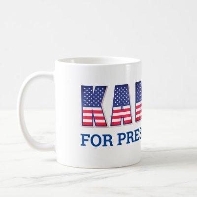 """Star Spangled """"Kamala for President"""" Coffee Mug"""