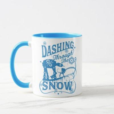 """Star Wars AT-AT & AT-ST """"Dashing Through The Snow"""" Mug"""