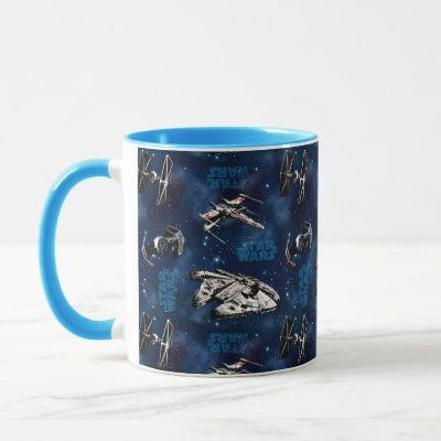 Star Wars | Blue Vehicle Classic Pattern Mug