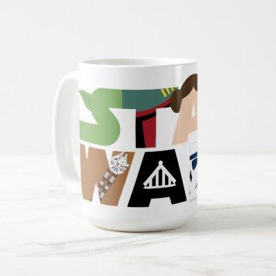 Star Wars Character Letters Logo Coffee Mug