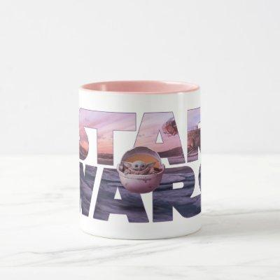 Star Wars Desert Title With The Child Mug