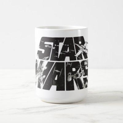 Star Wars Logo | X-Wing & TIE Fighter Battle Coffee Mug